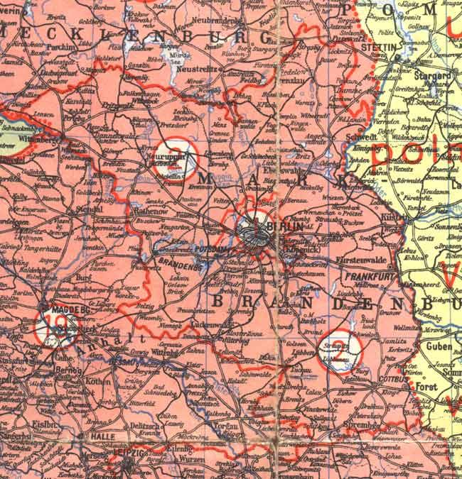 Land Brandenburg Karte.Das Land Brandenburg Im Jahr 1945 Bis 1952