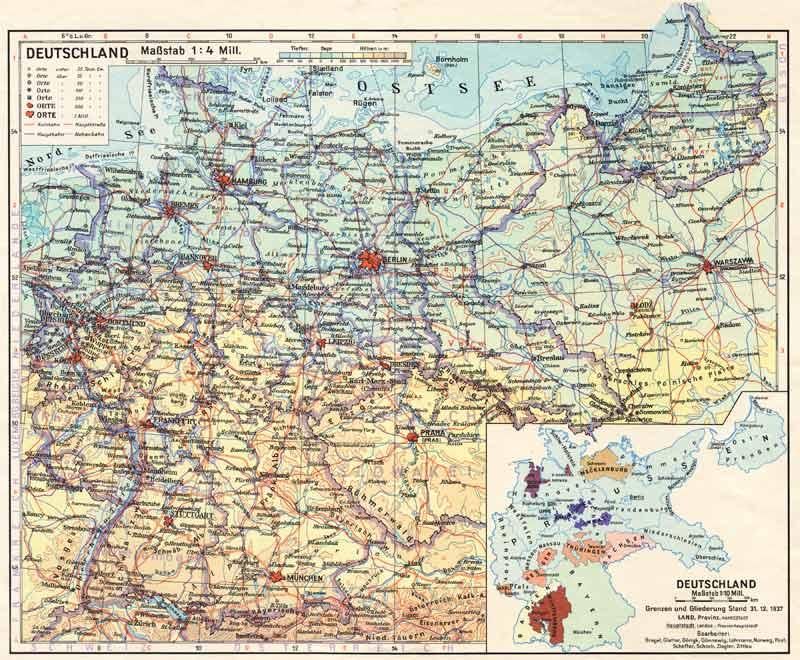 Preussen Deutschland In Den Grenzen Von 1937
