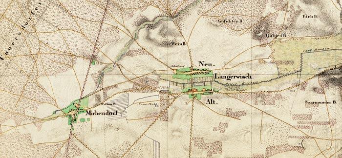 Historische Karte Potsdam.Ortsteil Michendorf Historische Karten Urmesstischblatt